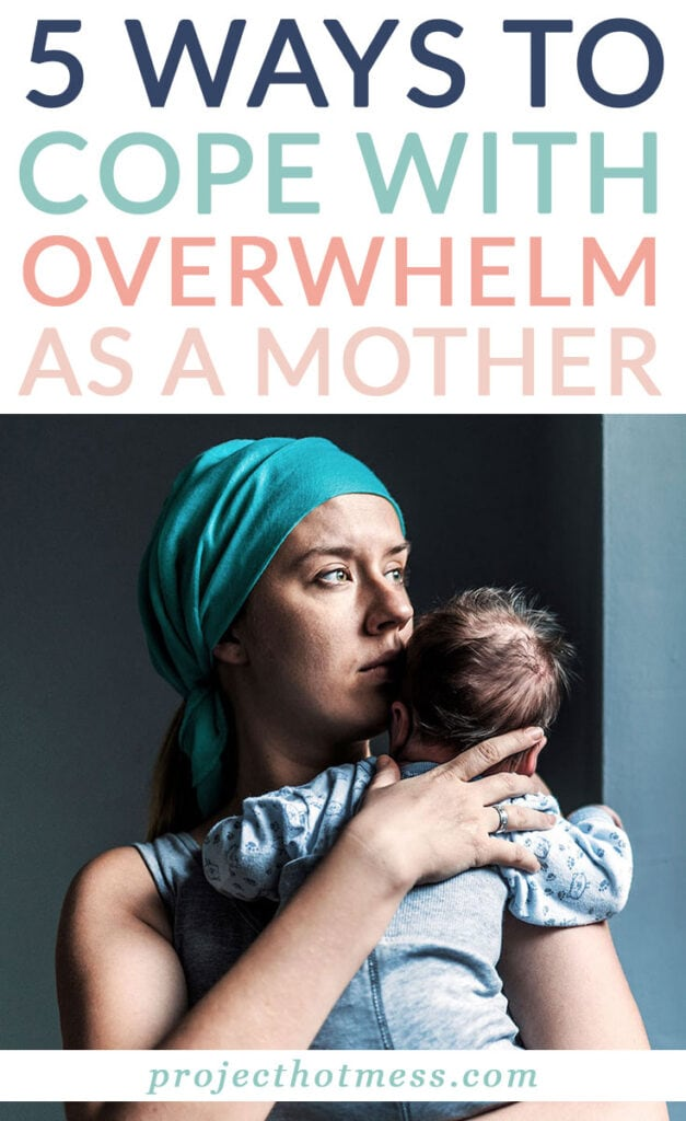 Despite how much you love being a mother, there are times when it's going to feel like too much. Here are some great ways to cope with overwhelm as a mother and get back some time for yourself. #parenting #motherhood #parentingtips #selfcare