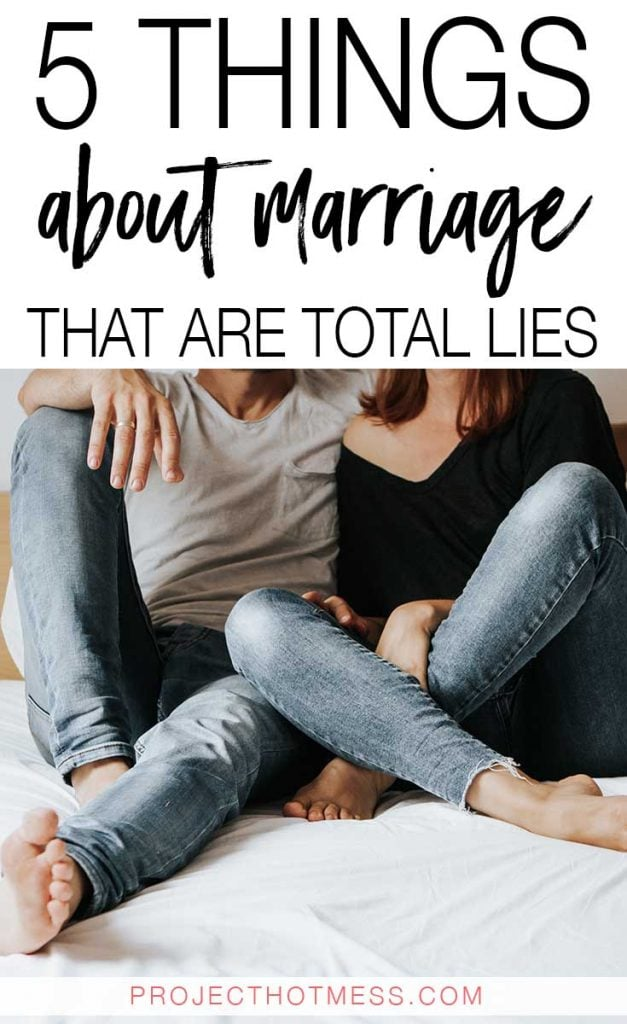 A happy marriage is one we all aspire to have, but how does it happen? There are so many myths out there about marriage and how to have a happy and successful marriage. These are just some of the things about marriage that are total lies (and you can completely ignore if anyone ever says these to you!) You get to choose how you have a happy marriage!