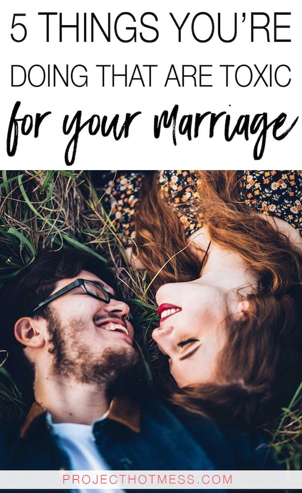 It's easy to identify the obvious behaviours and actions that are toxic for your marriage, but some things are more subtle and go unnoticed, like these. Do you have any of these toxic behaviours in your marriage? Eliminate them and be on your way back to having a happy marriage.