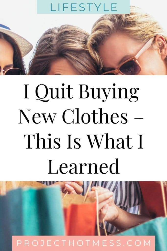 When you're trying to save money there's a whole lot of money saving tips and tricks you can use... but could you do this? I needed to save money to achieve my financial goals. I decided to set myself a challenge and I quit buying new clothes for a year, this is what I learned and what you need to know before starting your own money saving challenge.