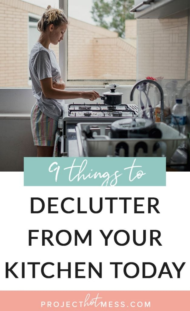 Your kitchen can be a place that stores so much clutter without you even realising it! Get on top of the chaos with these 9 things you can declutter from your kitchen today.