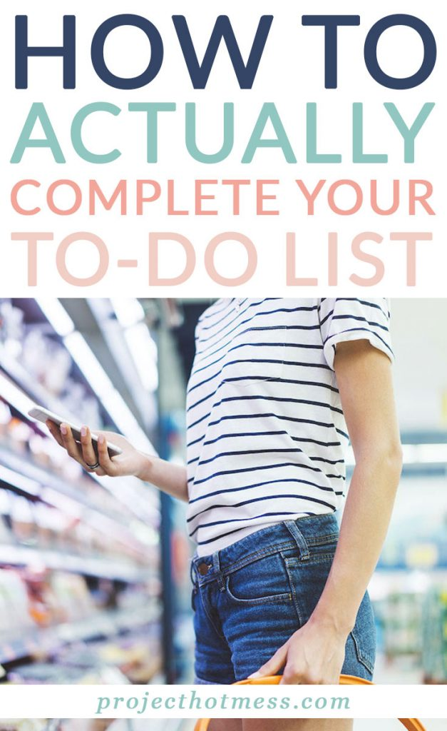 Do you actually complete your to do list each day? Be more productive and feel like you're accomplishing your goals by creating a to do list that works for you and gets finished!