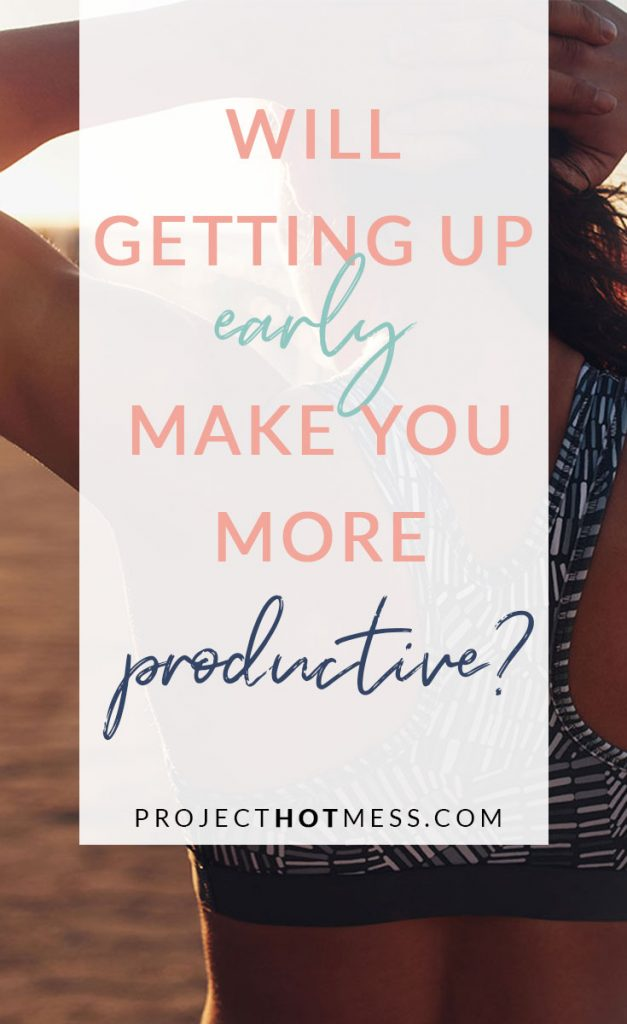 Are you looking for ways to be more productive? You may have heard that waking up early makes you more productive. Well I'm here to tell you that might not be exactly true, and you may be more productive when you don't make yourself get up earlier!