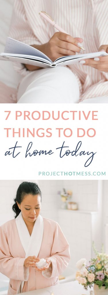 Sometimes there will be times when we're stuck at home. Instead of being productive, it can be tempting to just relax or binge watch Netflix. But getting some things done around the house can be a more productive thing to do. Here are 7 productive things you can do around the house today!