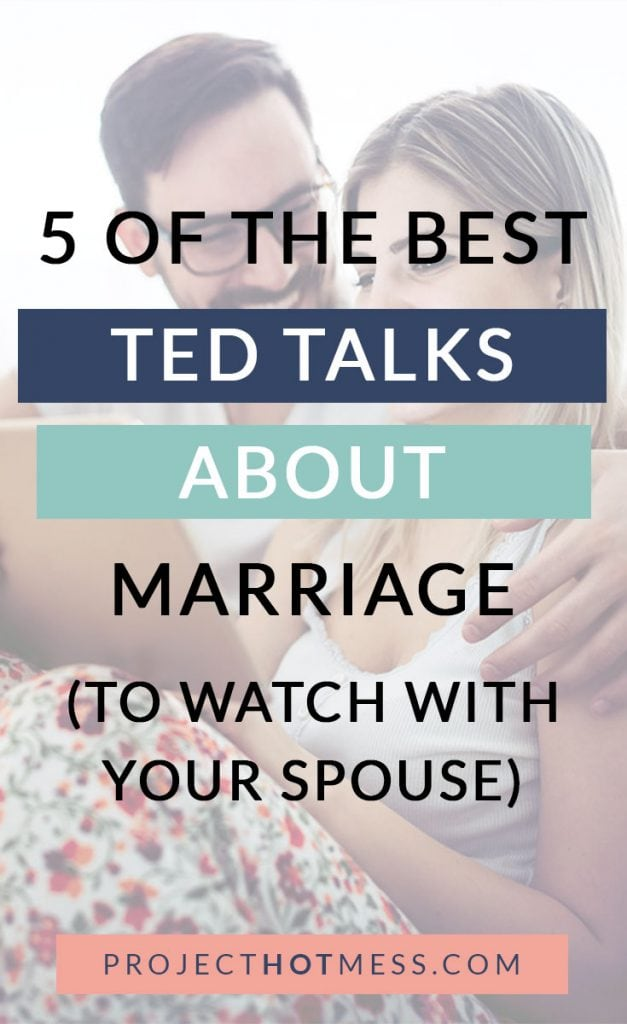 Do you love TED Talks? I do too, and one topic that I really love watching about is marriage. There is no shortage of TED Talks on marriage, and I've narrowed down the list for you. Here are 5 of the best TED Talks about marriage!