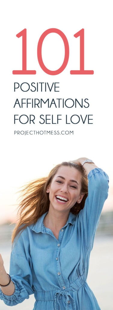 Self love affirmations are a great way to help you to focus on positive thoughts and when you use daily affirmations for self love, you feel happier too. Save this list of 101 affirmations for self love, and grab a copy of the printable affirmation cards too so you can print and use them in your day to day life.