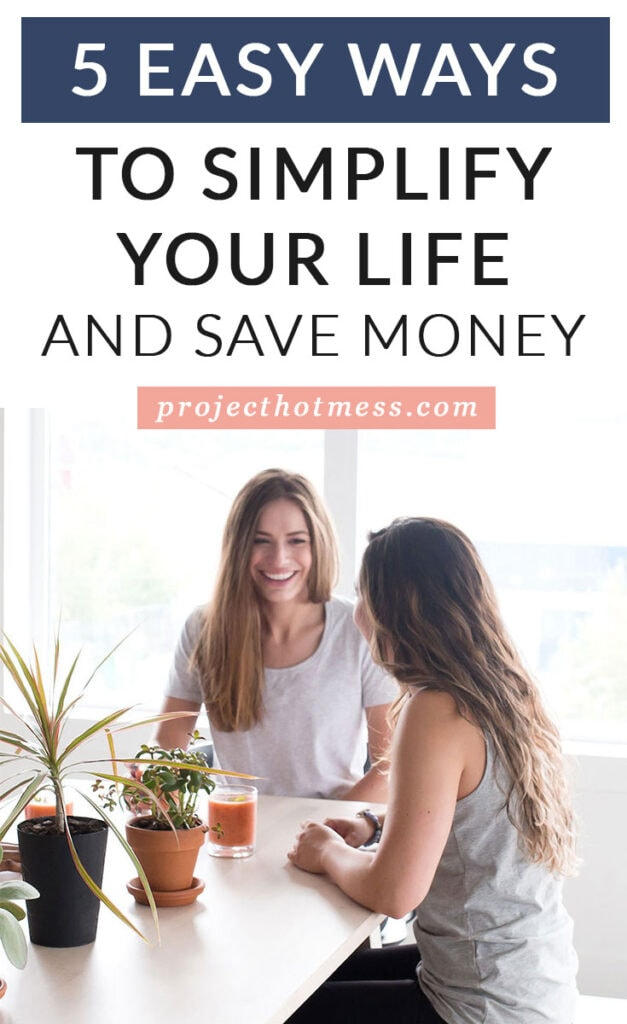 Simplifying your life can help you save money! And not just by making your coffee at home. Use these strategies to help you save more money by living more simple every day.
